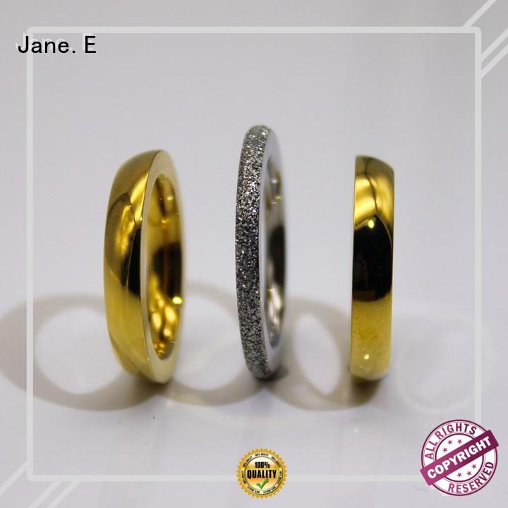 factory direct stainless steel ring blanks black top quality for weddings