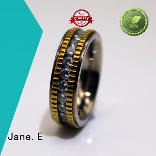 JaneE milgrain stainless steel wedding bands for her fashion design for men