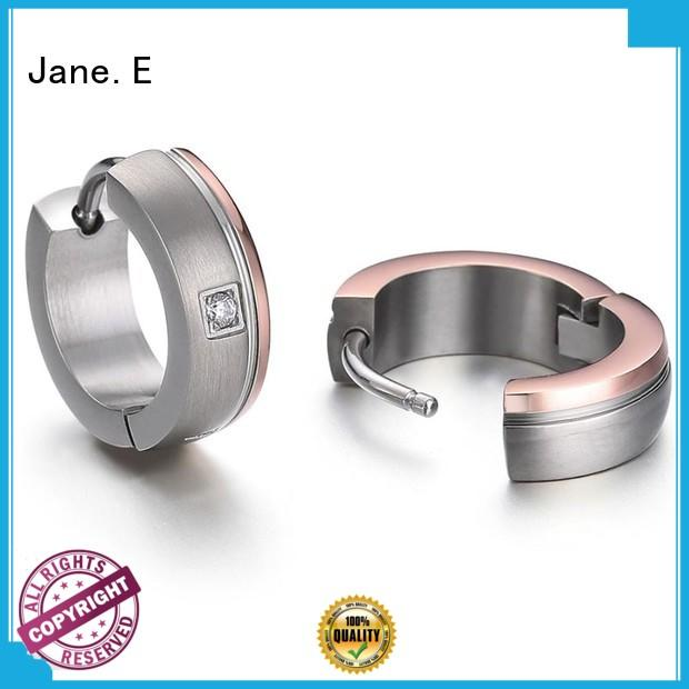 rainbow surgical grade titanium earrings zirconia body hot selling for girl
