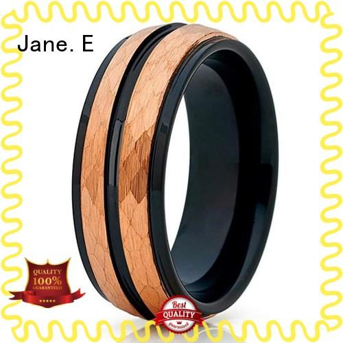 JaneE red opal custom tungsten ring exquisite for engagement