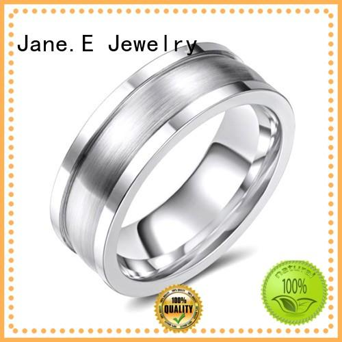 channel setting womens cobalt chrome wedding band channel setting for anniversary JaneE