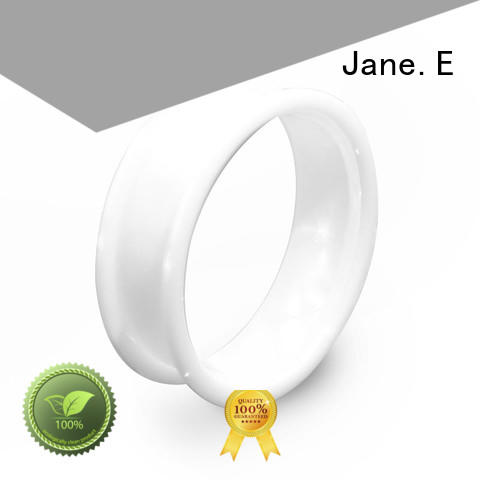 JaneE hightech ceramic mens ring hot selling for inlay