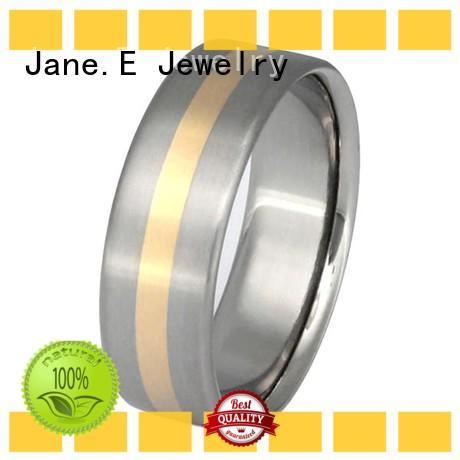 high quality 2 pieces titanium ring white ceramic popular design for handcrafts works
