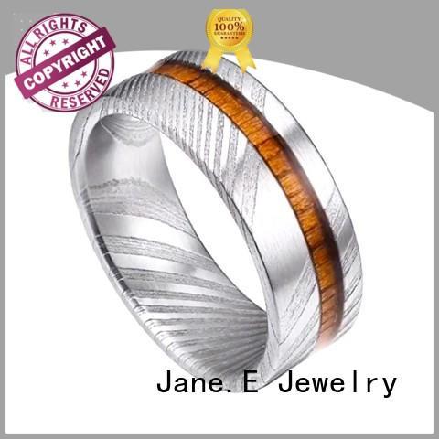 silver damascus steel ring blanks wood veneer inlay wholesale for inlay