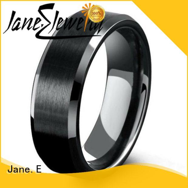 JaneE nylon titanium engagement rings silver for engagement