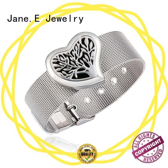 with genuine leather strap stainless steel bangles wholesale with stainless steel watch band for gift JaneE