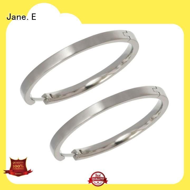 JaneE zirconia body titanium jewelry earrings classic style for girl