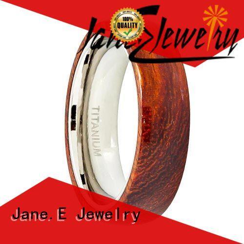 brown black ceramic ring popular design for women JaneE