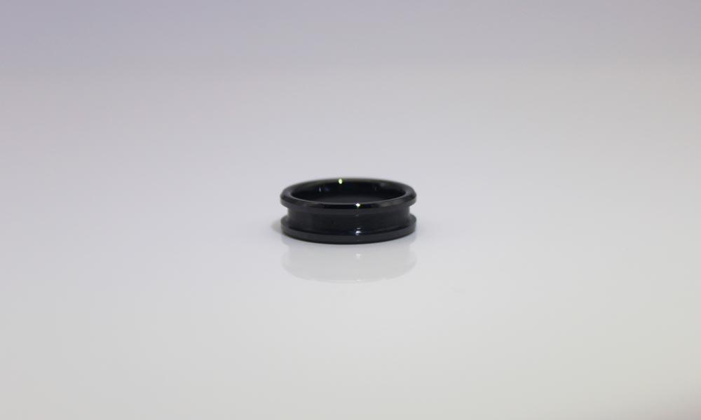 JaneE fully polished finish chanel ceramic ring hot selling manufacturer-3