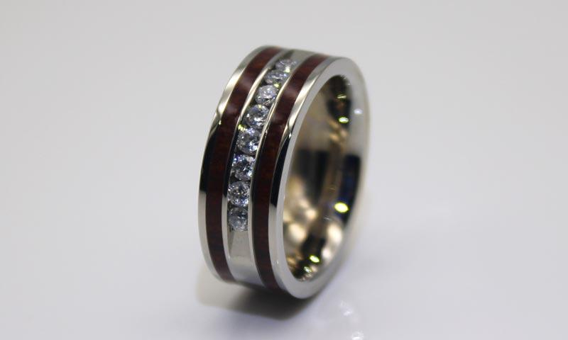 shiny black stainless steel wedding bands multi colors for decoration JaneE-1