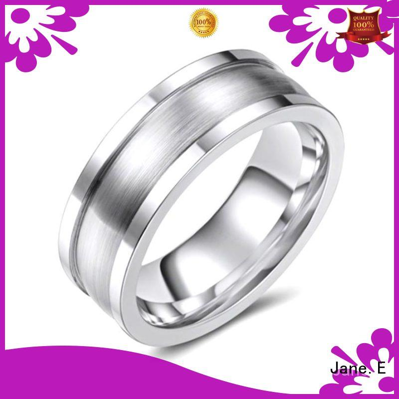 JaneE silver white black cobalt chrome ring for inlay