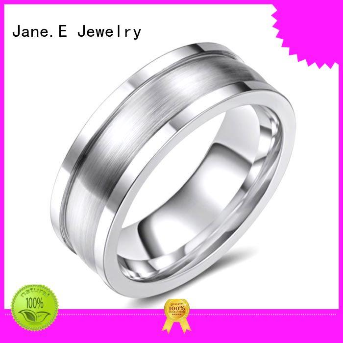black cobalt chrome ring no plating for anniversary JaneE