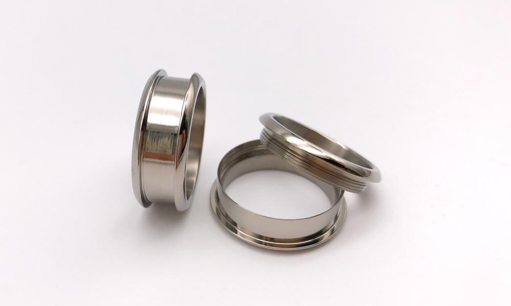 JaneE high quality titanium ring core silver for decoration-2