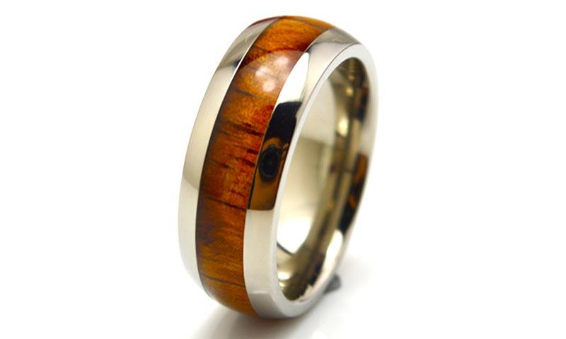 JaneE for wood crafts custom black titanium rings simple for anniversary-2