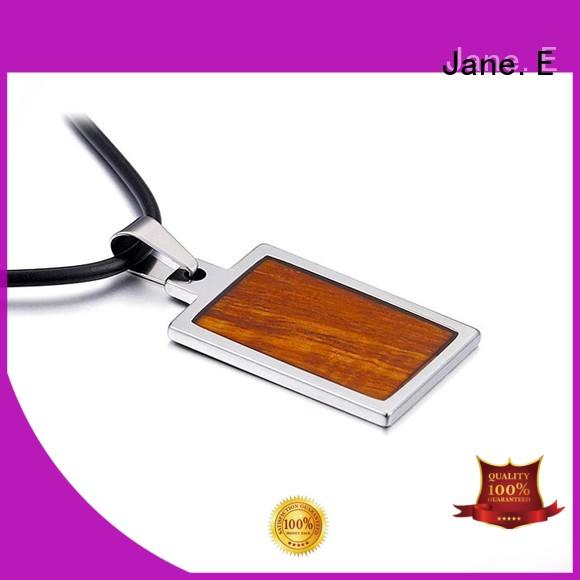 modern stainless steel pendant black plated leather chain for necklace