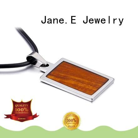 new design stainless steel pendant koa wood inlay beautiful for men