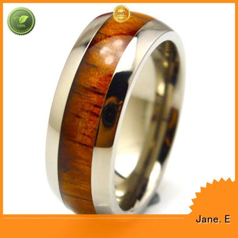 14k yellow gold custom black titanium rings wholesale for engagement