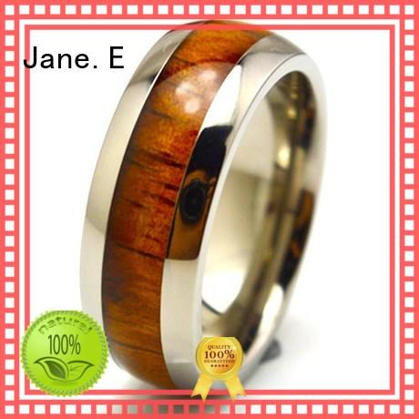silver titanium ring blanks koa modern design for wedding