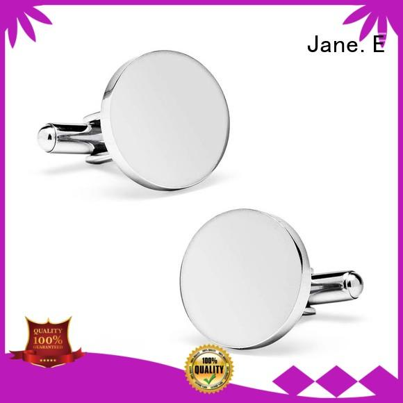 JaneE veneer cufflink and stud set custom design for men