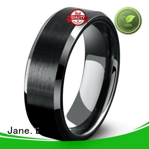 JaneE scratched resistant surgical steel rings matt for gift