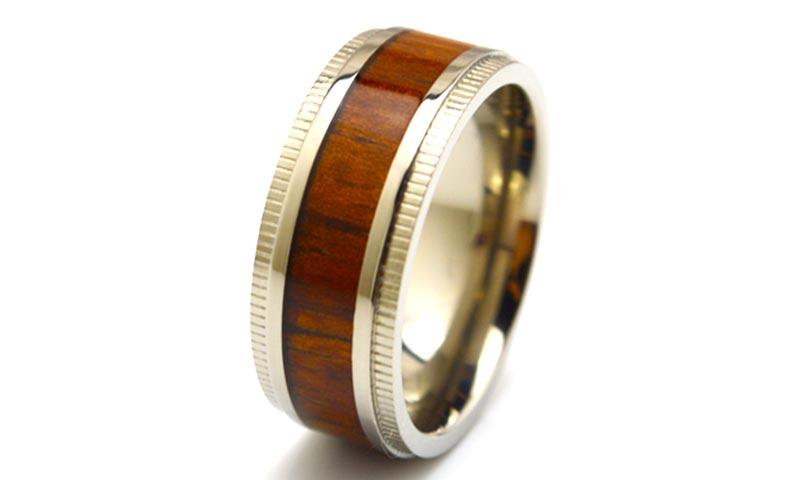 JaneE for wood crafts custom black titanium rings simple for anniversary-3