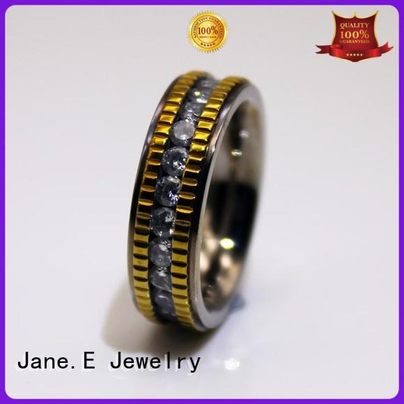 customized ladies stainless steel rings 18k gold comfortable for decoration