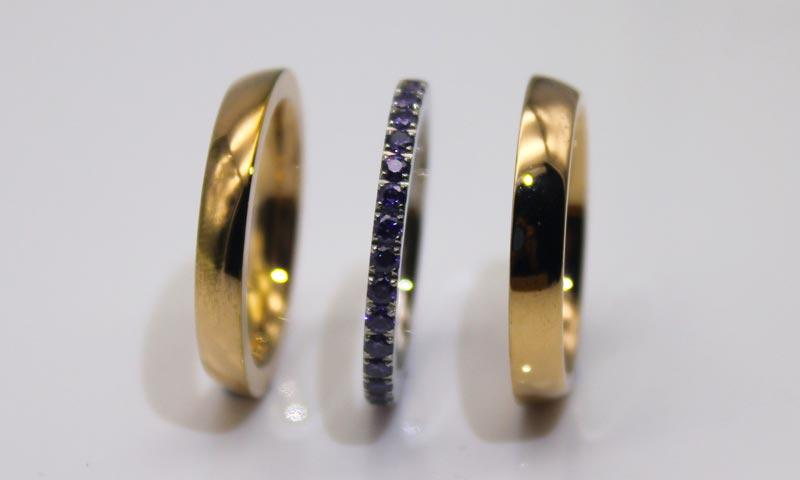 factory direct stainless steel ring blanks black top quality for weddings-1