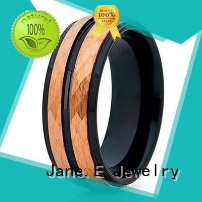 unique design tungsten male wedding bands two tones engraved for wedding