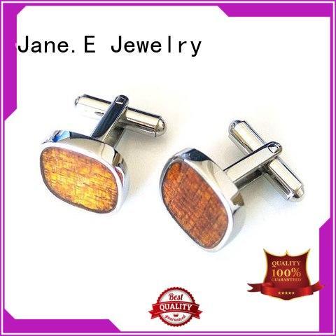 JaneE silver brushed steel cufflinks fashion for men