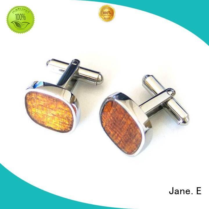 JaneE veneer initial cufflinks supplier