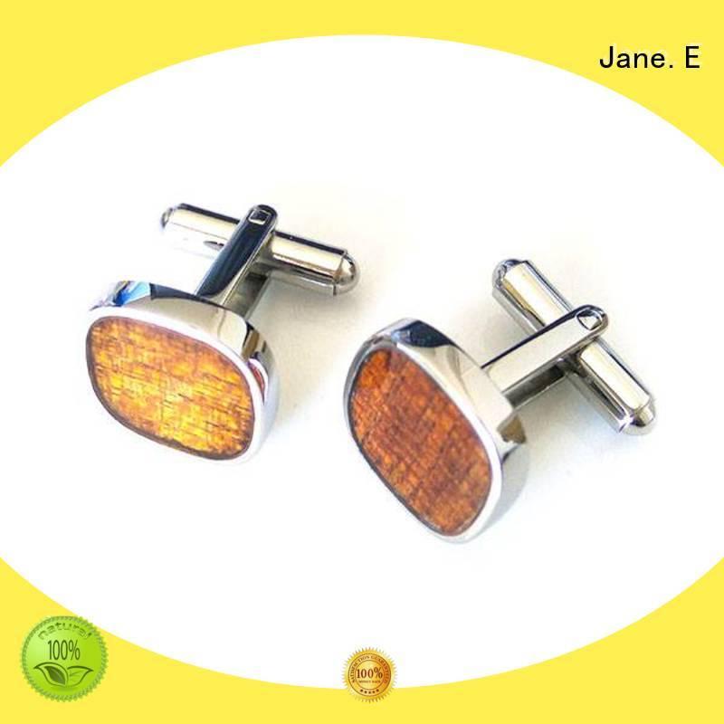 JaneE veneer personalised cufflinks all sizes supplier