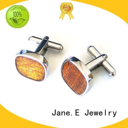 JaneE laser engraved cufflinks and studs custom design for men