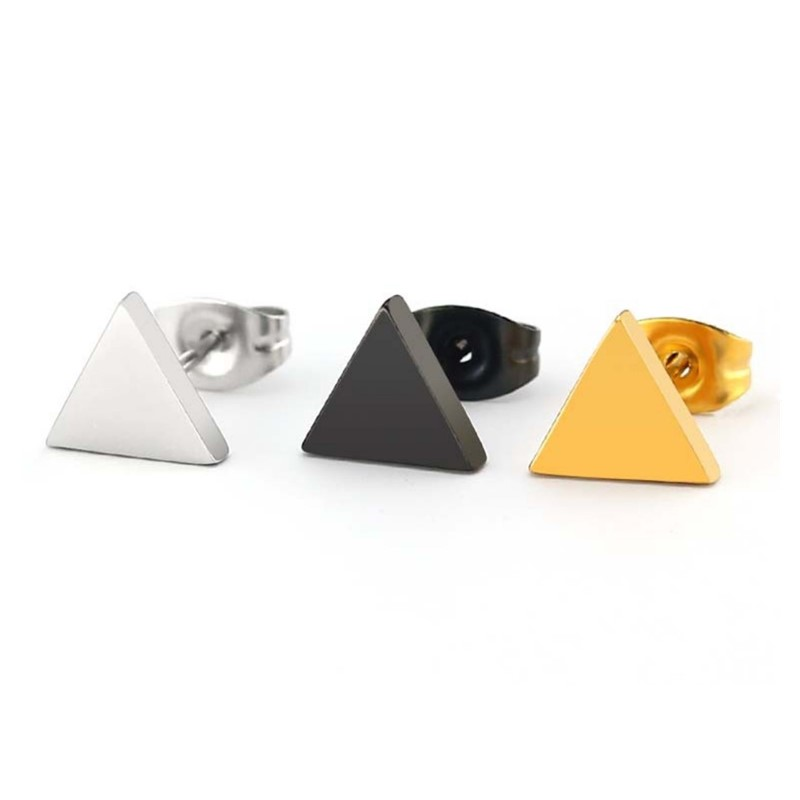 rainbow simple earrings big stub bar classic style for gift-5