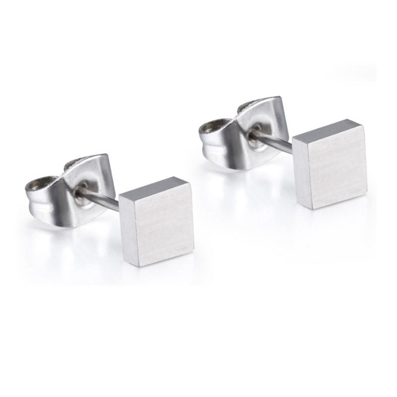 rainbow simple earrings big stub bar classic style for gift