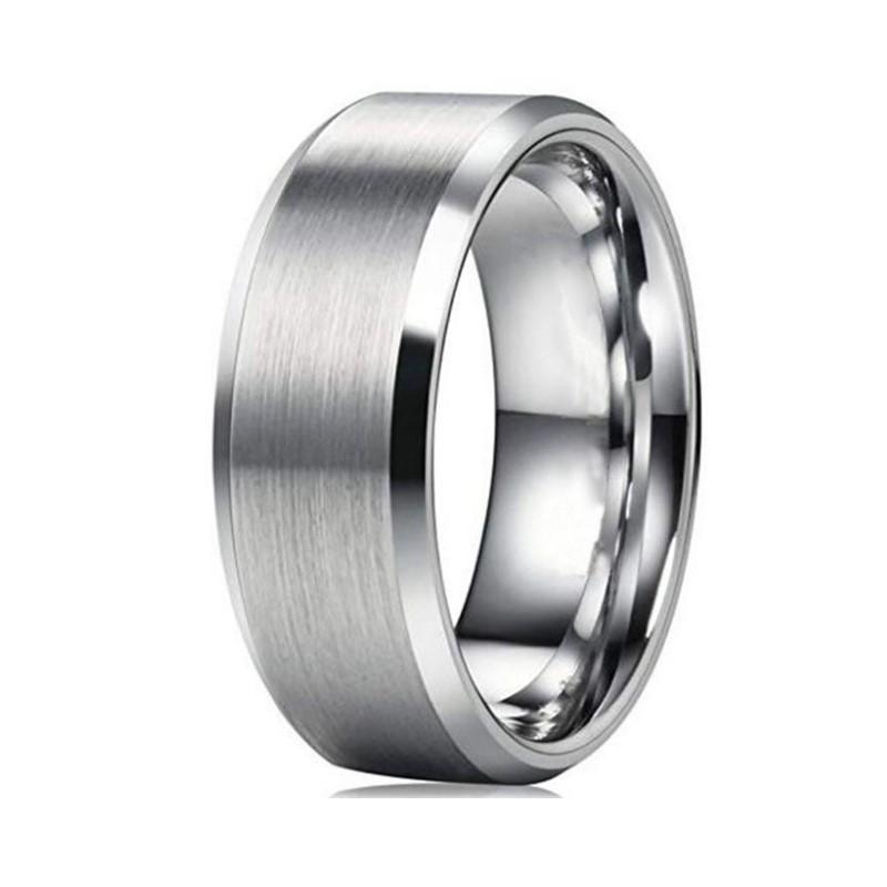 JaneE 18k gold black steel ring fashion design for decoration-2