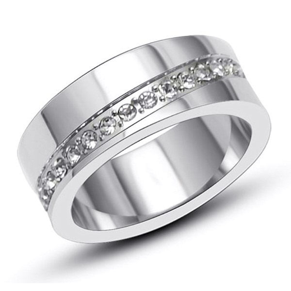 JaneE square edges mens stainless rings comfortable for decoration-1