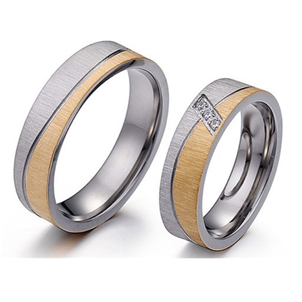 JaneE brown men's wedding band comfortable for decoration-1