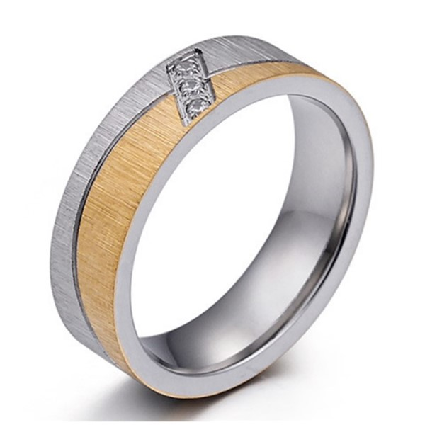 JaneE brown men's wedding band comfortable for decoration-3