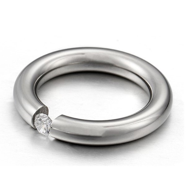 JaneE square edges stainless steel rings for her comfortable for decoration-2