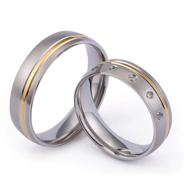 JaneE sparkle sandblasting custom made titanium rings wholesale for engagement-1