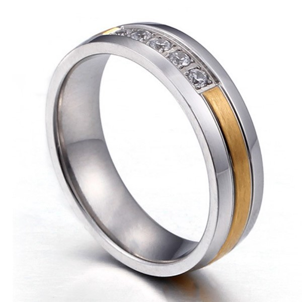 shiny stainless steel couple rings black top quality for decoration-2