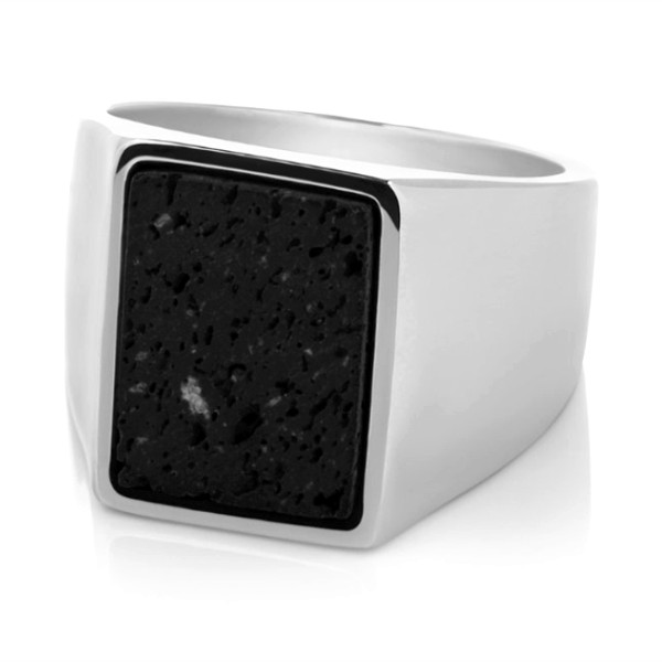 shiny simple stainless steel rings inlay fashion design for men-2