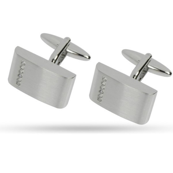 silver engrave cufflinks koa wood custom design for gifts-1