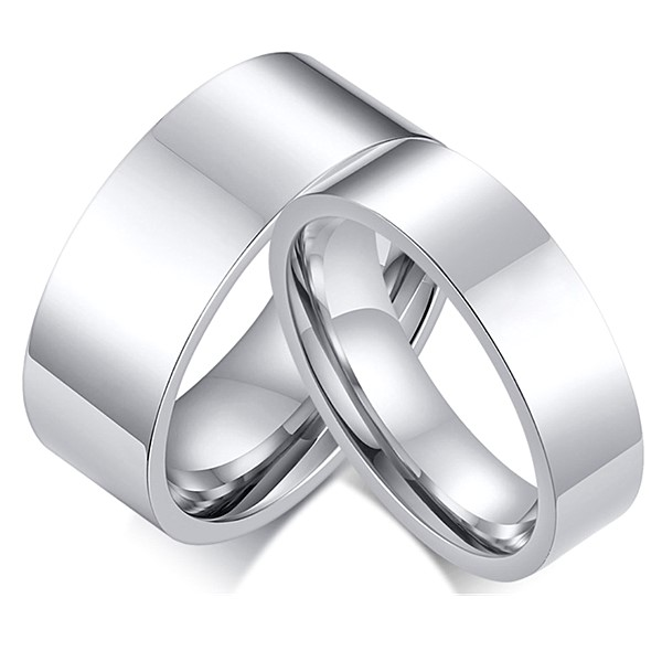 JaneE polished edge titanium engagement rings for her simple for engagement-1