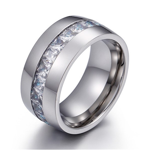 JaneE shiny stainless steel mens wedding bands top quality for weddings-1