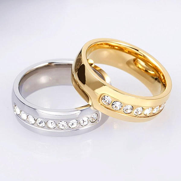 JaneE customized stainless steel promise rings for her multi colors for weddings