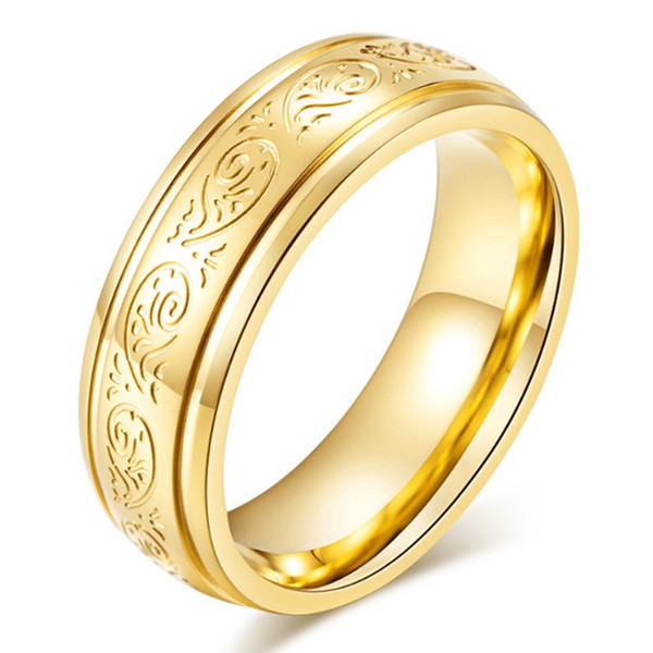 JaneE square edges stainless steel wedding bands comfortable for men-3