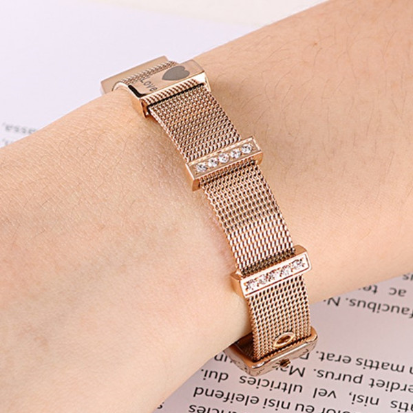 multi colors stainless steel bangle bracelets with genuine leather strap exquisite manufacturer-1