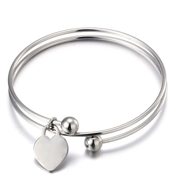 JaneE manual polished stainless steel bangle bracelets exquisite manufacturer-4