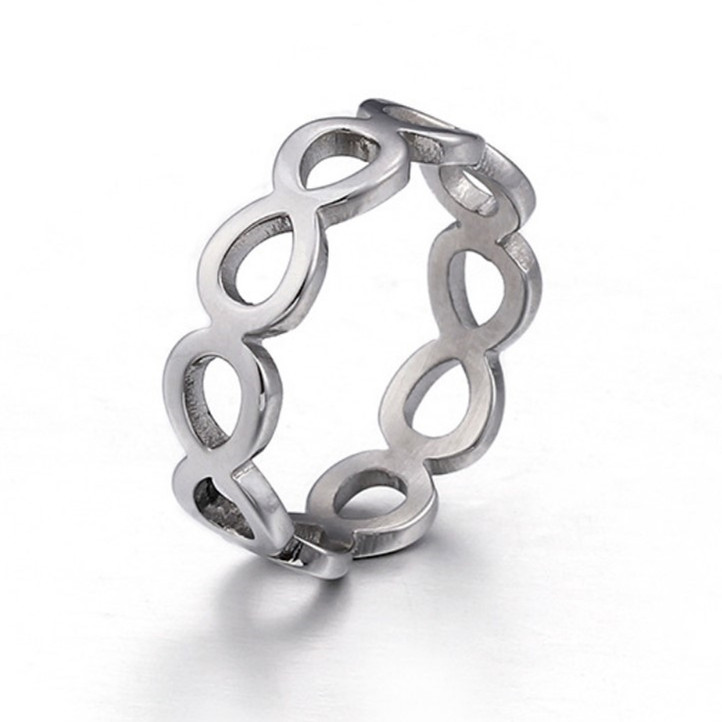 JaneE brown stainless steel promise rings fashion design for men-4